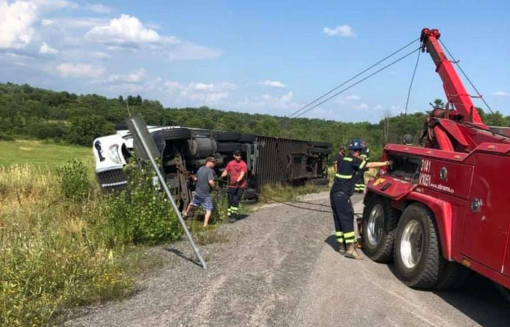 Truck Rollover Recovery