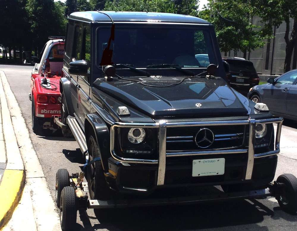 Towing an All-Wheel Drive Mercedes G-Wagon