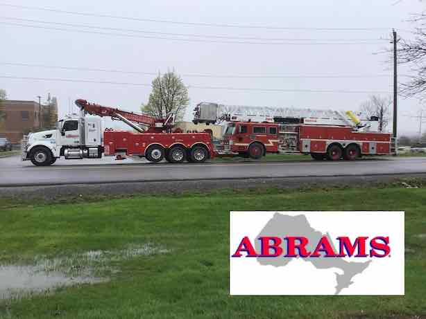 Heavy Towing of Coburg Fire Truck Just Outside of Toronto