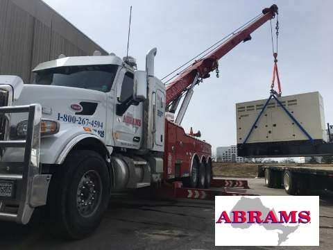 Middle of lift by Abrams Towing Service