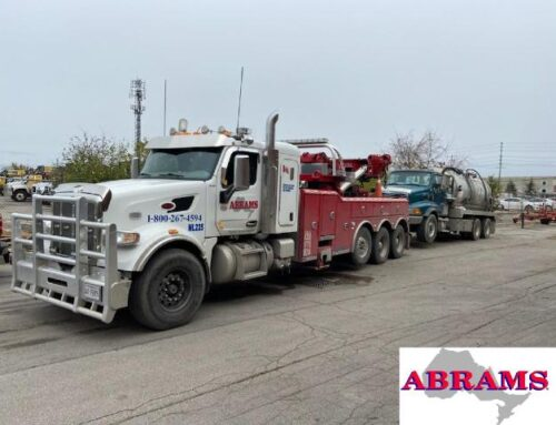Heavy Haul of Sewage Truck on 407
