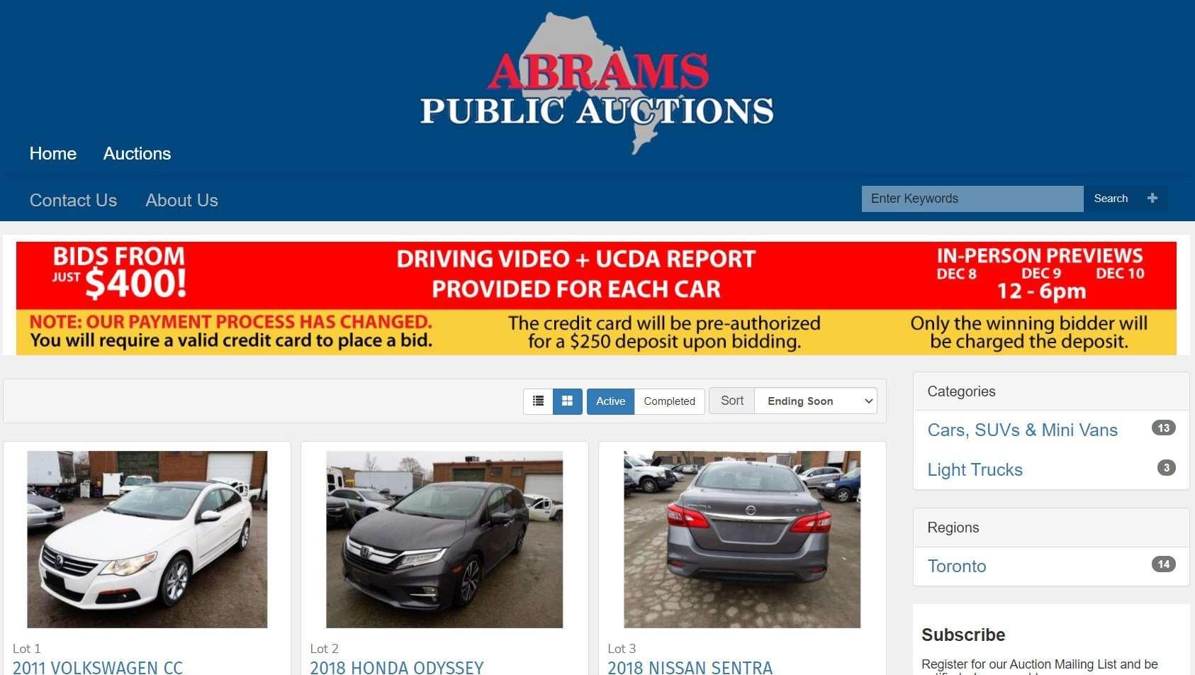 Abrams Car Auction