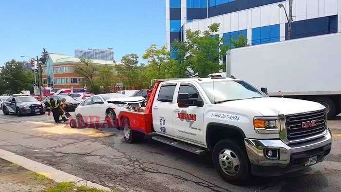 towing car accident